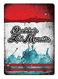 DADDY S Lil Monster Metall Wandschild Aufschrift Kunst, Harley Joker