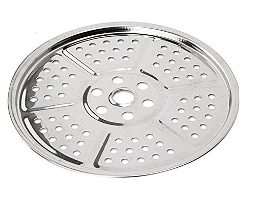 Chytaii Dampfer Rack Platte Edelstahl Dampfer Stockpot Rundes Steaming Rack Platte für Küche Kantinen 26CM Platte Rack