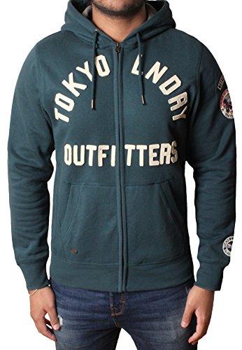 Herren Tokyo Laundry Kapuzenpullover Mit Kapuze Sweatshirt Jumper Zur Seite fahren Voller Reißverschluss Top CHIPPEWA Tokyo Teal