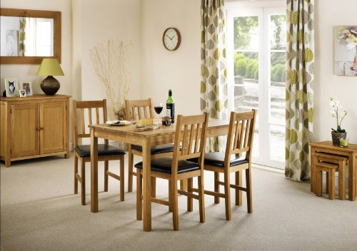 Julian Bowen Coxmoor Oak Dining Chairs, Set of 2