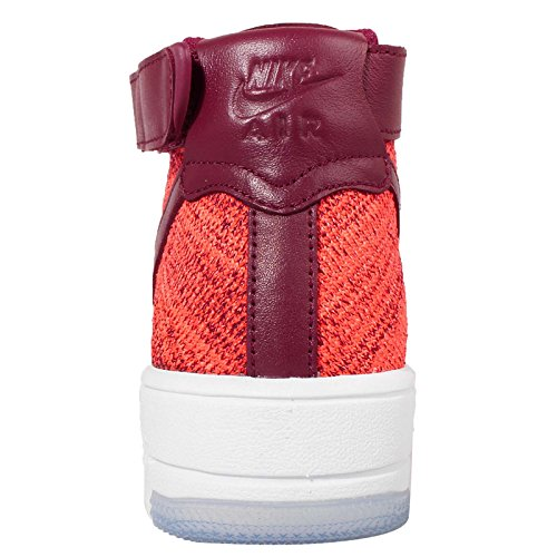 Nike Womens W Af1 Flyknit Sneakers Naranja (totale Cremisi / Squadra Rosso)