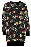 Xclusive Collection Nouveau Femmes Noël Bonbon Bâton Gingembre Pain Chaussettes Thermique Sweatshirt Pulls 36-50 (48/50, Rudolph Candy Gift)