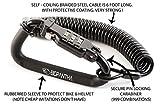 Casco moto Lock & cable. Sleek Tough combinazione pin dispositivo di bloccaggio moschettone nero per fissare la tua moto, bicicletta o scooter Crash giacca e cappello  alla bici da Bigpantha
