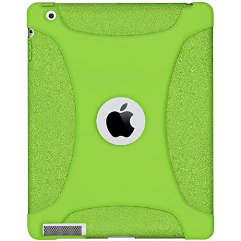 Amzer Exclusive Silicone Skin Jelly Case Cover for Apple iPad 2 - Green