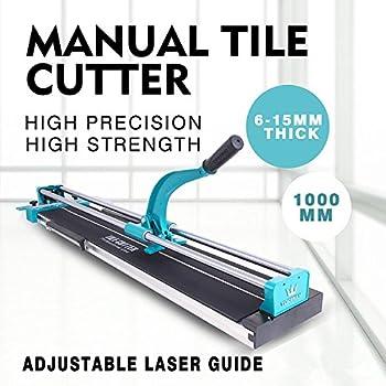 BuoQua 100cm Tagliapiastrelle Manuale Taglia Spessore Da 6mm A 15mm Taglia Mattonelle Macchina Professionale Taglia Piastrelle Capacit/à Di Taglio 1000mm