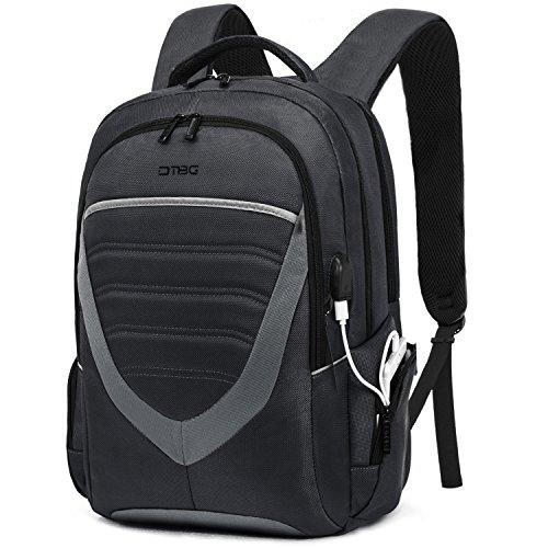 DTBG 15 Zoll Laptop Rucksack mit USB Anschluss / Port Schulrucksack Business Backpack Reisen Rucksack Daypack passt 15 - 15,6 Zoll Laptop/Notebook/Computer/Studenten/Damen/Herren,Schwarz