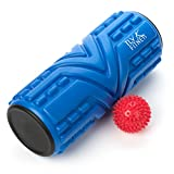 TLV Fitness Foam roller - Rullo in schiuma per massaggi ed Spiky ball, include 2 lettori di e-book e user Guide