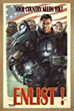 Fallout 4 Poster Enlist! Your Country Needs You! (66x96,5 cm) gerahmt in: Rahmen Eiche