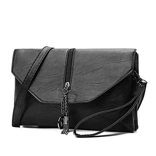 Mefly Die Neuen Sommer Tasche Lady Single Schulter Kuriertasche Black