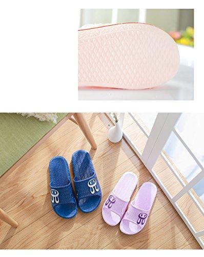 Chaussons Pantoufles de bain Summer Home Slip Pantoufles anti-dérapantes Summer Indoor Bathroom Pantoufles de bain ( Couleur : B , taille : 27cm ) A