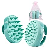 Scheam Spazzola Massaggio Cuoio Capelluto, Shampoo Doccia Lavaggio Scrub Massaggio del Cuoio Capelluto Massaggio Spazzola Pettine-Verde-Anti Cellulite