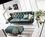 KAWOLA Sofa Charme 3-Sitzer Stoff smaragd-grün 225x94x95cm (B/H/T)