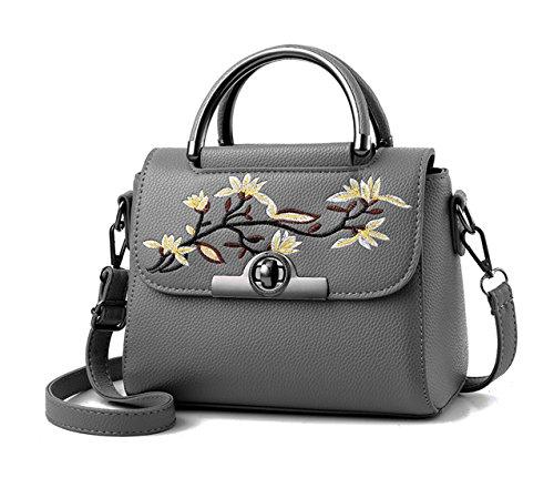 Maibaoma Pu Cool Damen Handtaschen, Hobo-Bags, Schultertaschen, Beutel, Beuteltaschen, Trend-Bags, Velours, Veloursleder, Wildleder, Tasche Deep Grau