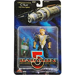 1997 - WB Toys / Exclusive Premiere Dist - Babylon 5 Earth Alliance Space Station - Ambassador G'Kar Action Figure - w/ Narn Fighter - Rare - Out of Production - New - Collectible