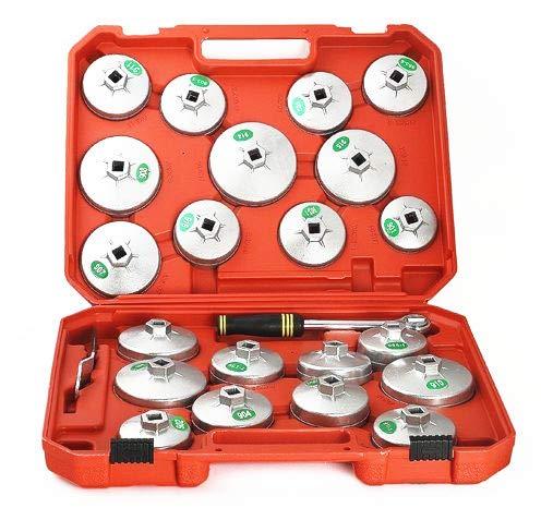 23 pcs Cap type de filtre à huile Clé à douille Outil de démontage kit Outil d'ingénierie mécanique Auto Voiture kit Outil de maintenance de réparation