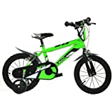"Dino Bikes Bici Bimbo 14"" 4-7 anni verde"