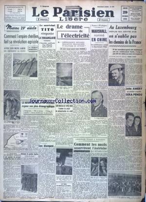 PARISIEN LIBERE EDITION DE 5 HEURES (LE) [No 404] du 29/11/1945