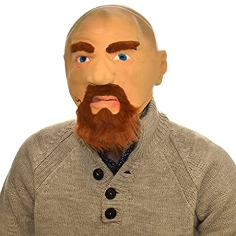 Overhead Walter White Full Head Rubber Latex Mask Fancy Dress