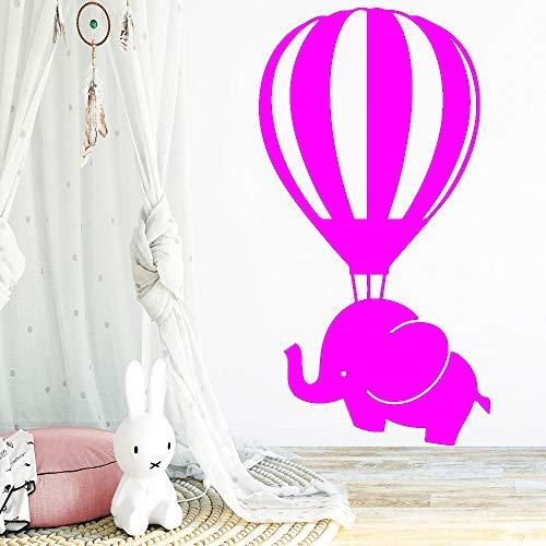 zhuziji Bunte Elefanten Heißluftballon Wandaufkleber Dekoration Für Kinderzimmer Decor Vinyl Kunst Aufkleber Schule Schlafzimmer Wand M ww-5 M 28 cm X 53 cm