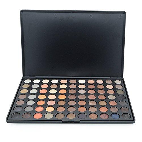MISS ROSE Professionelle bunte Palette 77 Farbe Professionelle Lidschatten-Palette Mattschimmer Naked Eye Shadow Make-up für Frauen