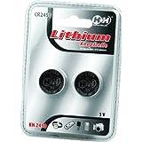 H+H - Piles et batteries - Pack de 2 piles bouton au lithium de type CR2450
