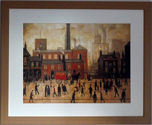 Lowry Large Framed Print / Picture Coming Home From The Mill (internal frame size 20 x 16) by Stateoftheart-uk (Home Coming Leinwand)