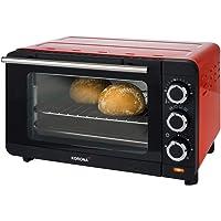 Korona 57005 Four à pain | rouge | 14 litres | Mini-four avec plateau ramasse-miettes amovible | petit four