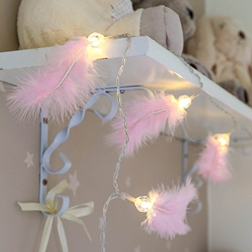 pink-feather-fairy-string-lights-battery-operated-10-leds-clear-cable-by-festive-lights