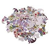 MagiDeal 50er Set Holzknöpfe Kinderknöpfe Bastelknöpfe Knöpfe für Scrapbooking DIY Handwerk Deko - Hund Form