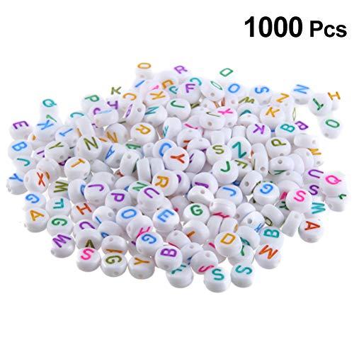 Vosarea 1000 pezzi perline lettere alfabeto in acrilico per gioielli fai da te braccialetti collane