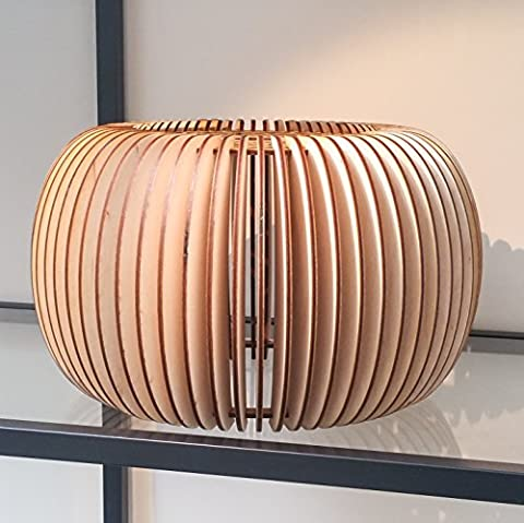 Beautifully Detailed Wooden Natural Lampshade ~ Laser Cut ~ rustic