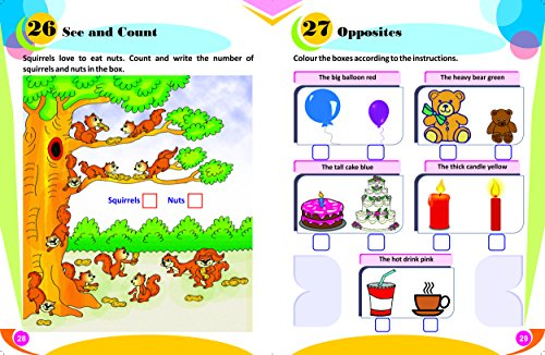Gikso Activity Book - 1 for Kids Age 3-5 Years Old