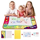 Konesky Doodle Mat Aqua Water Magic Mat Disegno Pittura Quadro giocattolo educativo Pad con 4 penne ad acqua e libretto di disegno per bambini Toddlers Toys Grande Doodle Mat (78 * 58cm)