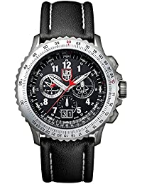 Luminox F-22 RAPTOR™ Chronograph Men's Quartz watch with Black dial featuring LLT Luminox light Technology 45 millimeters Titanium case and Black Leather Strap  XA.9241