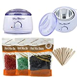 LIDDY Wax Warmer Electric Hair Removal Multi-function Mini Portable Waxing Warmers Mini Melting Pot Depilatory Heater With Free 3 Hard Wax Beans(100g) and Wax Applicator Sticks