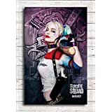 Pixel Artz Wall Poster - Harley Quinn - Suicide Squad - Movie - HD Quality Poster - Office Wall Poster - Office Door Poster - Home Wall Poster - Wall Decor Poster