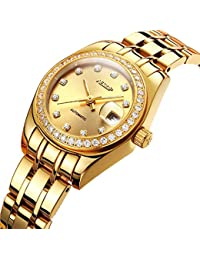 950ecc666fda AESOP Reloj de señoras de moda reloj mecánico automático luminoso reloj de  mujer impermeable de acero