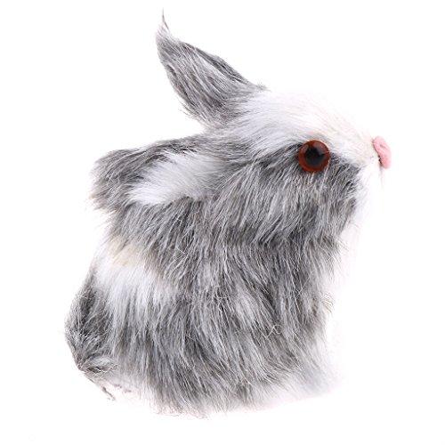 Plüsch-häschen-haus (Homyl Mini Realistische Plüsch Häschen Kuscheltiere Spielzeug Für Haus, Auto, Schreibtisch Dekoration - Grau)