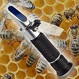 Refractómetro apicultor apicultura miel mermelada confitura fruta azúcar humedad brix contenido de agua espesura R03-FBA