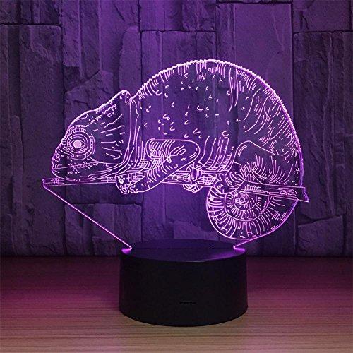 3D Effekt Illusion Lampen LED Nachtlichter,Chamäleon Farben, die geführtes Nachtlicht mit Noten-Knopf USB-Kabel (AA) ändern