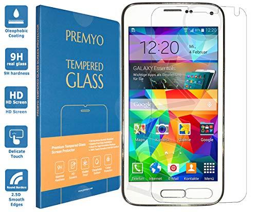 Premyo pellicola vetro temperato compatibile con samsung galaxy s5 protezione schermo durezza 9h bordi 2,5d anti-graffi bolle impronte