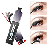 Mascara Waterproof Volume, 4D Silk Fiber Lash Black Mascara for Sensitive Eyes, Natural