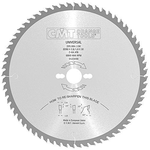 CMT Orange Tools 295,064,11 scie circulaire 280 m x 30 x 2,8 z 64 atb 10 degrés