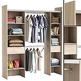 Kleiderschrank AKAZIE 3005 offen BEGEHBAR Regal Schrank Garderobe Schlafzimmer