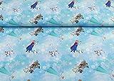 Toller little Darling Jersey Stoff mit Anna & Elsa und Co. auf hellblau | Maße: 25 cm x ca. 145 cm | 1A ÖKO-TEX Qualität Standard |