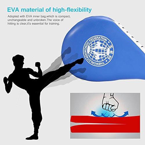 Taekwondo Kick Pad PU-Leder mit Doppelschicht Design Fokus Zielpolster Praxis Trainingsgeräte Kampfkünste Ausrüstung 1 Stück