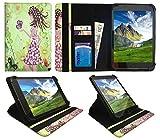 Sweet Tech Fusion5 8 Zoll Android Tablet Mädchen mit Schmetterling Universal 360 Grad Drehung PU Leder Tasche Schutzhülle Case (7-8 Zoll