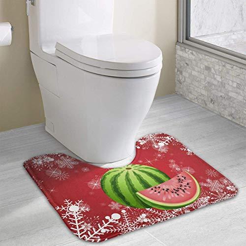 Saftige Kokos (Hoklcvd Saftige Zucker Wassermelone Fruchtsamen U-förmige Toilette Boden Teppich Rutschfeste Toilette Teppiche Badezimmer Teppich)