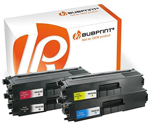 Preisvergleich Produktbild Bubprint 4 Toner kompatibel für Brother TN-326 SET MFC-L 8850 CDW HL-L8350CDW HL-L8250 CDN MFC-L 8650 CDW Black Cyan Magenta Yellow