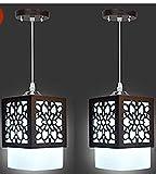 #7: New Raipuria Light Mrodern Design Fumed Glass 5Watt LED Hanging Light (Set of 2)